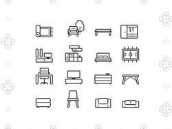 иконки мебели для сайта livarea.de