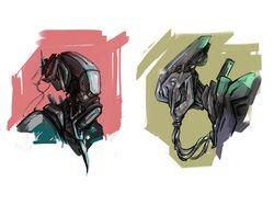 Sci fi cartoony characters concepts
