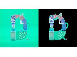 Замена фона у комплексного изображения