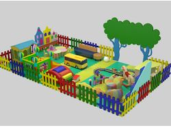 Визуализация детской игровой площадки