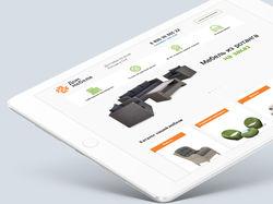 Дизайн Landing page по продаже мебели
