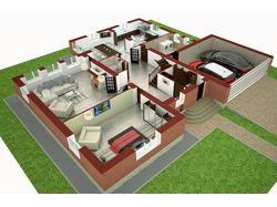 визуализация квартиры со срезом