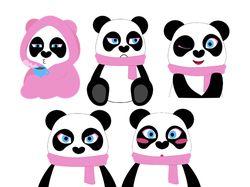 """Анимированные стикеры """"Панда"""""""