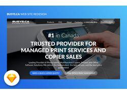 Дизай сайта Busys.ca