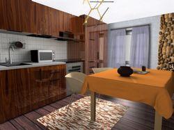 Интерьер квартиры, 3д визуализация