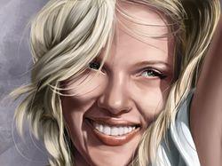 портрет Скарлет Йохансон
