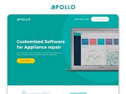 Web Дизайн для компании по Разработке ПО Apollo