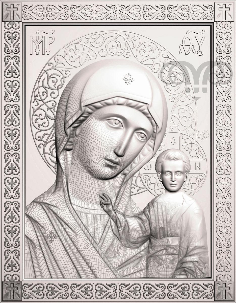 Рисунок казанская божья матерь, днем рождения