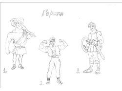 зарисовка персонажей к детской книге