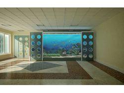 интерьер с аквариумом