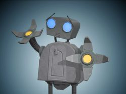 Low-poly robot specifically for mobile platforms