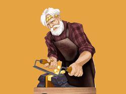 Дедушка карло - персонаж для оформлени группы в Вк