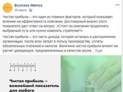 """Ведение группы Facebook """"Business Metrica"""""""