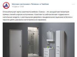"""Ведение группы ВКонтакте """"Магазин сантехники"""""""