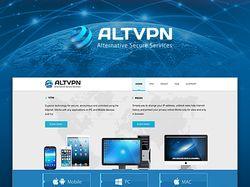 Дизайн сайта и логотипа ALTVPN