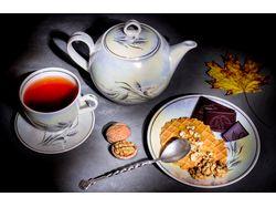 Банальный чайный натюрморт (фото,ретушь,цветокор.)