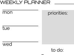 проект планера на неделю