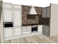 3D визуализация и проектирование кухни.