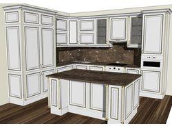 Дизайн и 3D визуализация кухни.