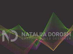 Абстрактные пирамиды из радужных линий в векторе