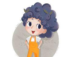 Персонажи девушки в одной цветовой гамме