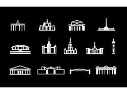 Иконки достопримечательностей Москвы