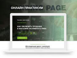 Онлайн практикум   Landing page
