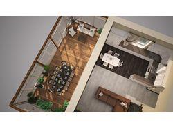 Дизайн гостинной коттеджа