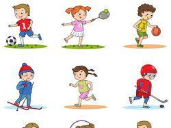 Серия раскрасок дети-спортсмены
