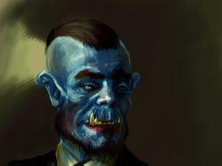 Портрет орка (в стиле World of Warcraft)