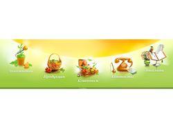 Иконки для салатного сайта