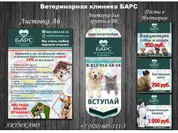 """Полиграфия для вет. клиники """"БАРС"""""""