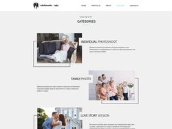 web site design for photographer