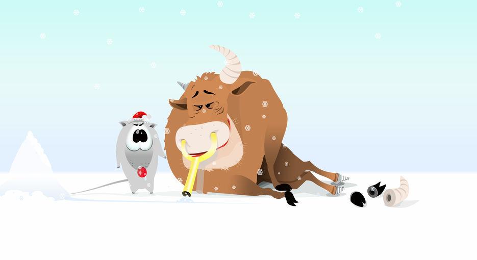 поздравление коровы с новым годом небольших