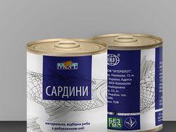 Дизайн упаковки для сардин