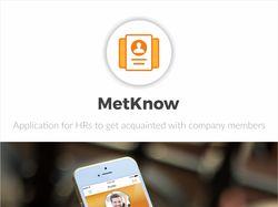 MetKnow , мобильное приложение