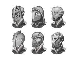 Space military sci-fi helmets