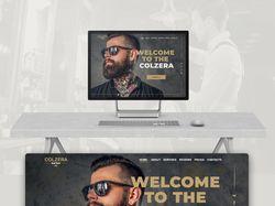 "Designe landing page  ""COLZERA barber"""