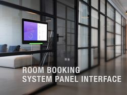 Room booking system panel interface