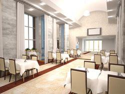 3D визуализация ресторан гостиница Россия