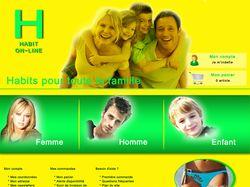 "Французкий интернет-магазин ""H-Habits"" на Magento"