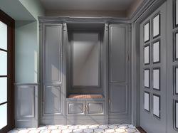 Визуализация шкафа из мдф в прихожей