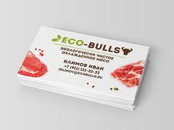 Визитка Eco-Bulls
