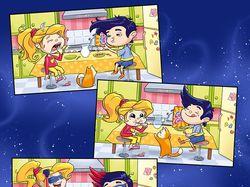 Комикс для упаковки детских завтраков