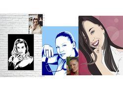 векторные портреты