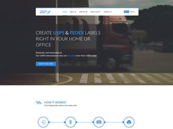 Дизайн главной страницы сайта RusBid
