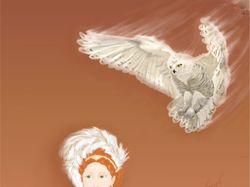 дама и полярная сова