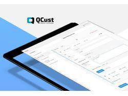 """Интерфейс для СMS """"QCust"""""""