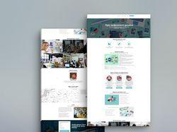 Посадочная страница Курсов веб дизайна