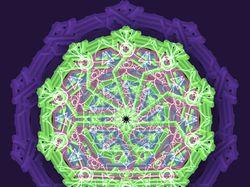 Изометрическая мандала колесо жизни.